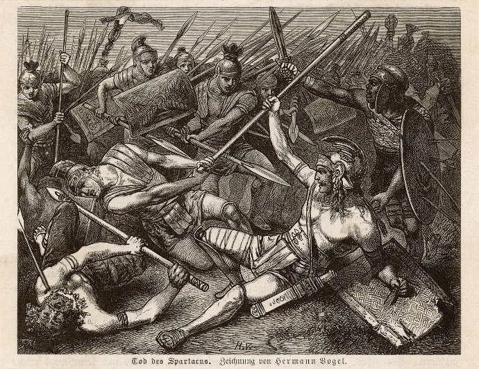 The death of Spartacus