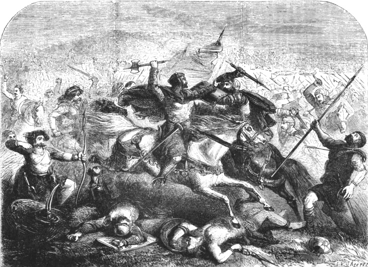 Defeat of the Saxons by Arthur