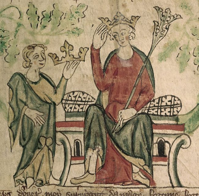Edward II inherited the throne from his father, Edward I.