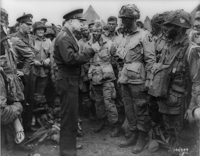 Dwight Eisenhower and Wallce Strobel