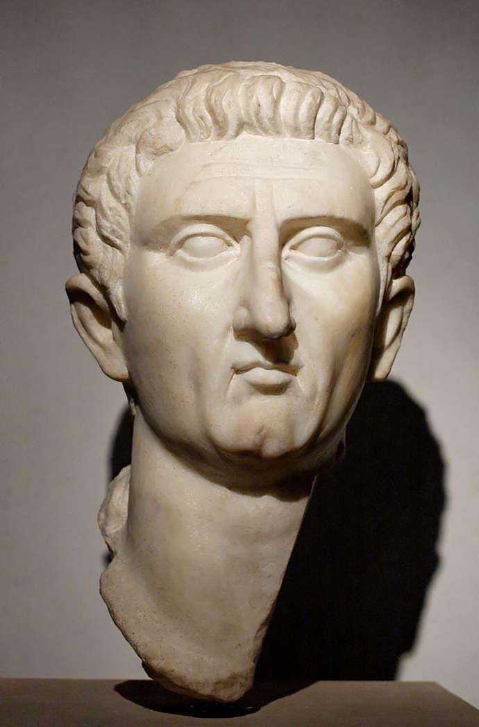 Bust of the Ancient Roman Emperor Nerva