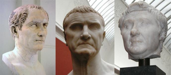The First Triumvirate of Caesar, Crassus and Pompey
