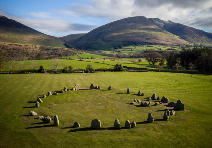 Aerial view of Castlerigg.