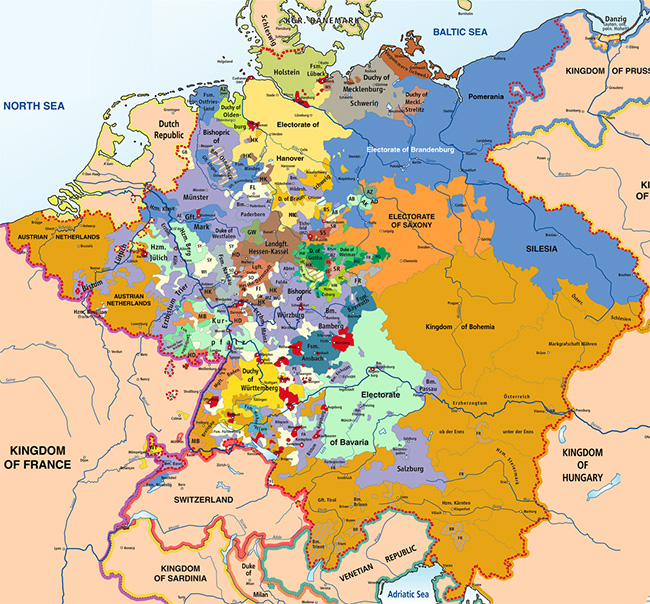 German states around 1789