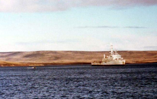 HMS Fearless.