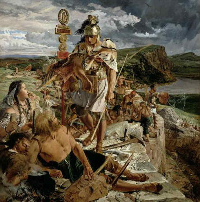 Painting of Hadrian's Wall by William Bell Scott.