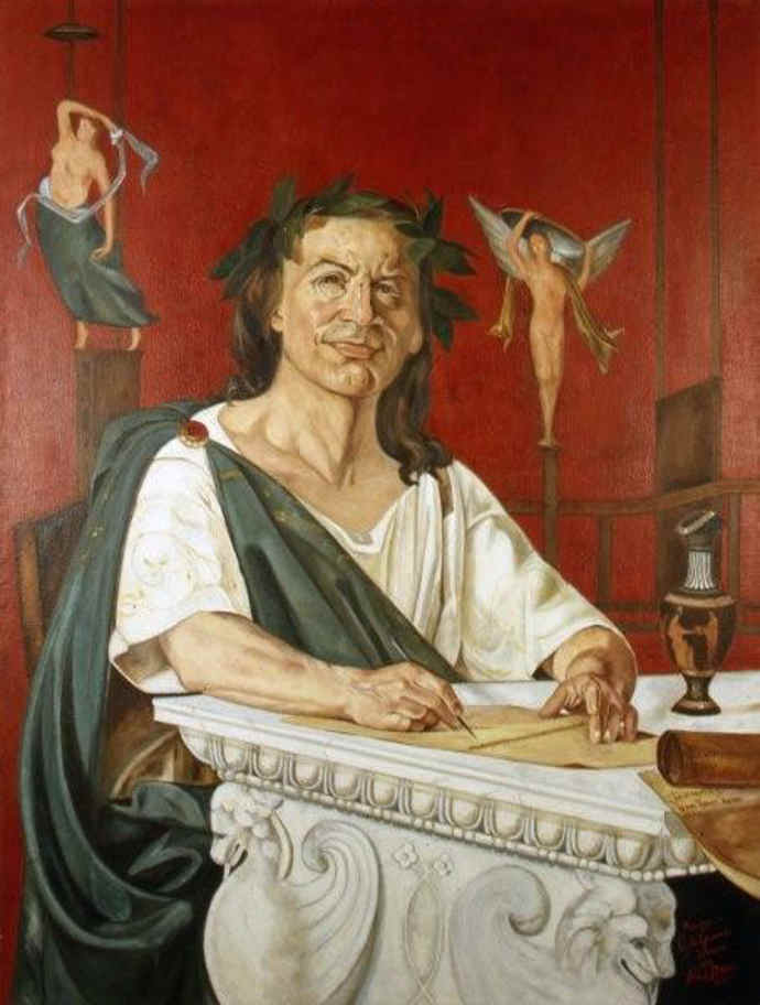 Roman poet Horace by Quinto Orazio Flacco