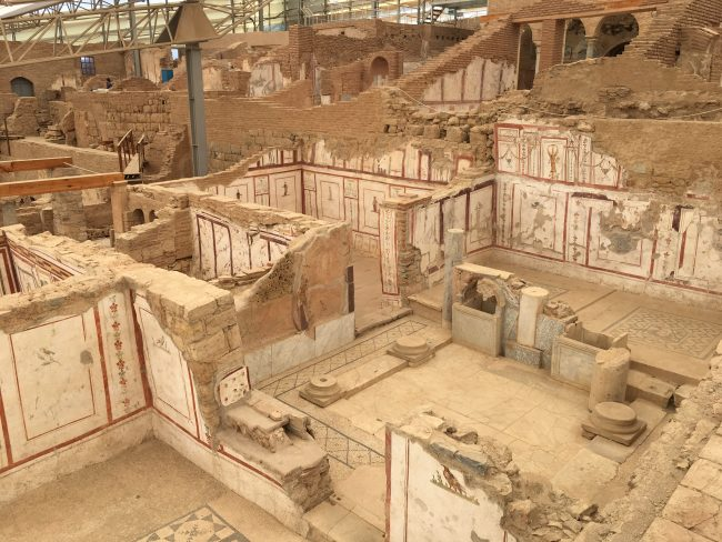 The 'terrace houses' at Ephesus