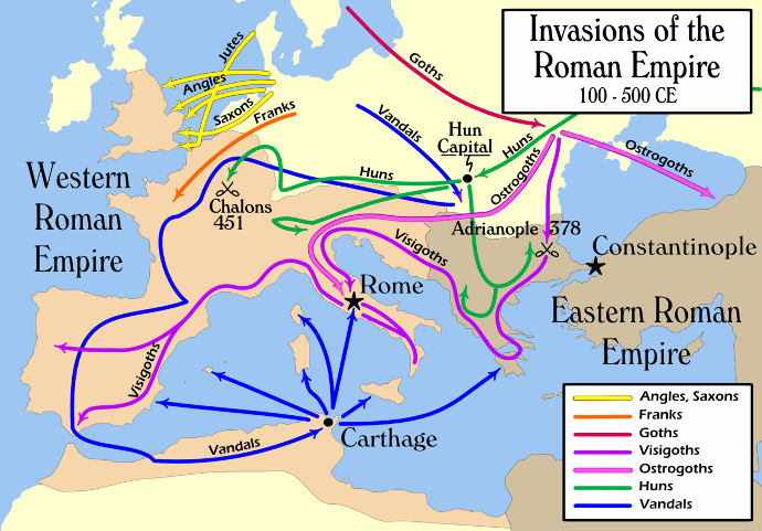 The Barbarian Invasions of the Empire