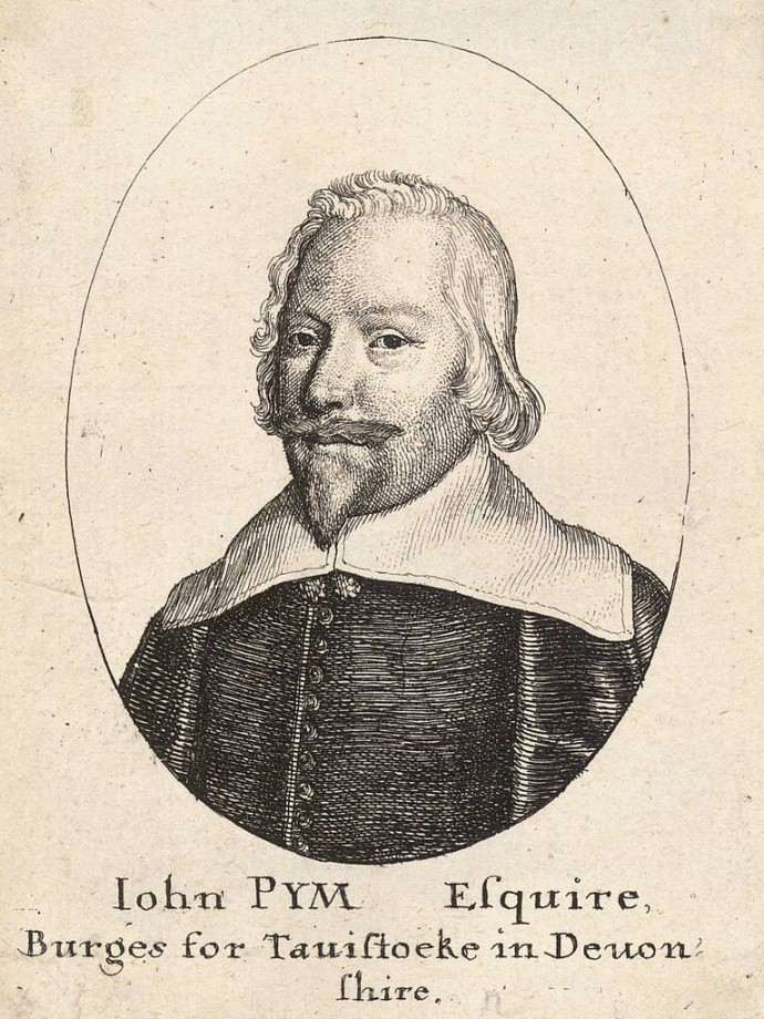 John Pym who was the focal point of early opposition in parliament.