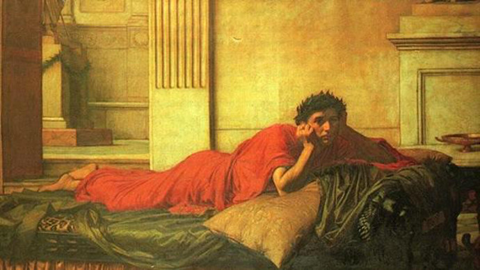 Nero mourning the mother he had killed.
