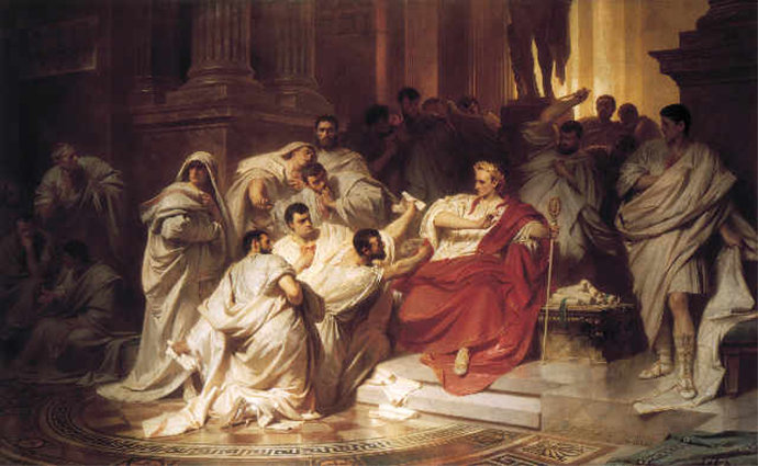 The murder of Julius Caesar on the Ides of March