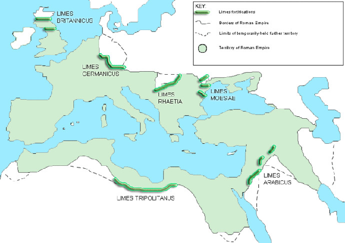 The limes and borders of the Roman Empire