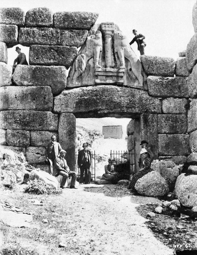 Schliemann Dörpfeld Mycenae 1875