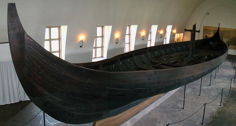 The shallow draft is clearly visable here on this preserved Longship.
