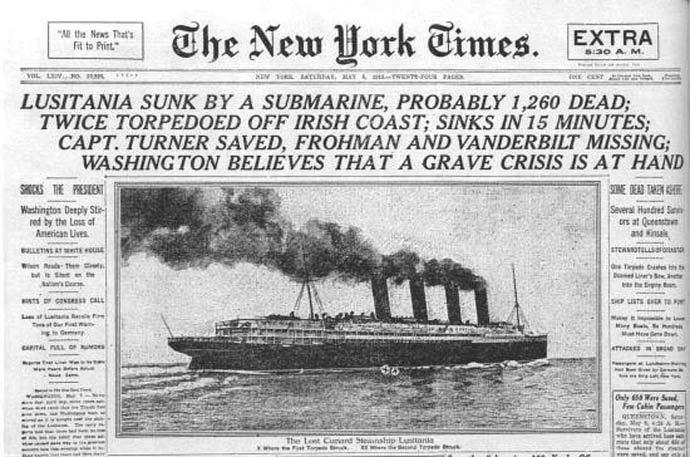 Lusitania-headline