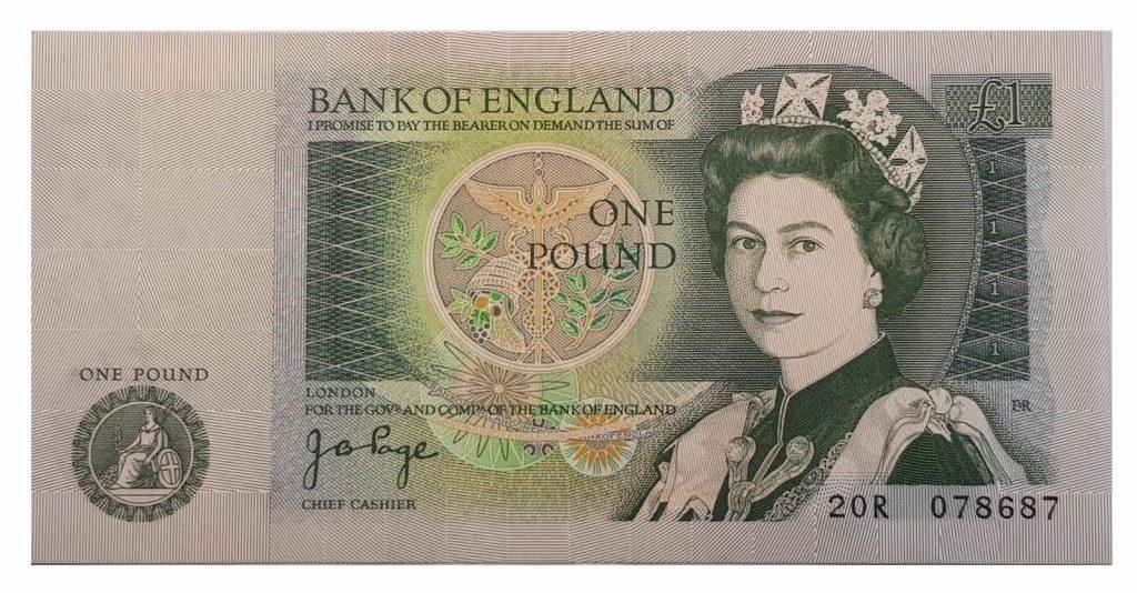 One pound note