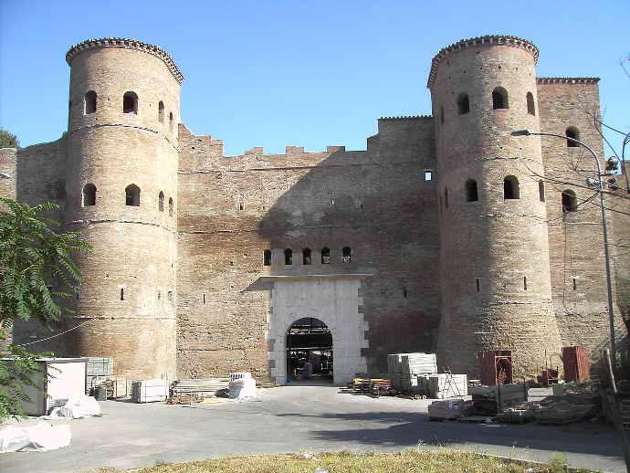 Porta Asinaria, a gate in Rome's Aurelian Walls