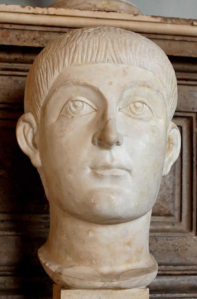 Probable portrait bust of Emperor Valens