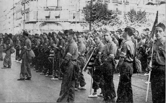 Spanish Civil War Republican volunteers
