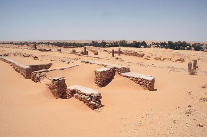 Remains of a Roman frontier fort on Limes Tripolitanus in modern Libya