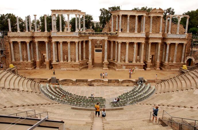 Ancient Roman ruins in Spain