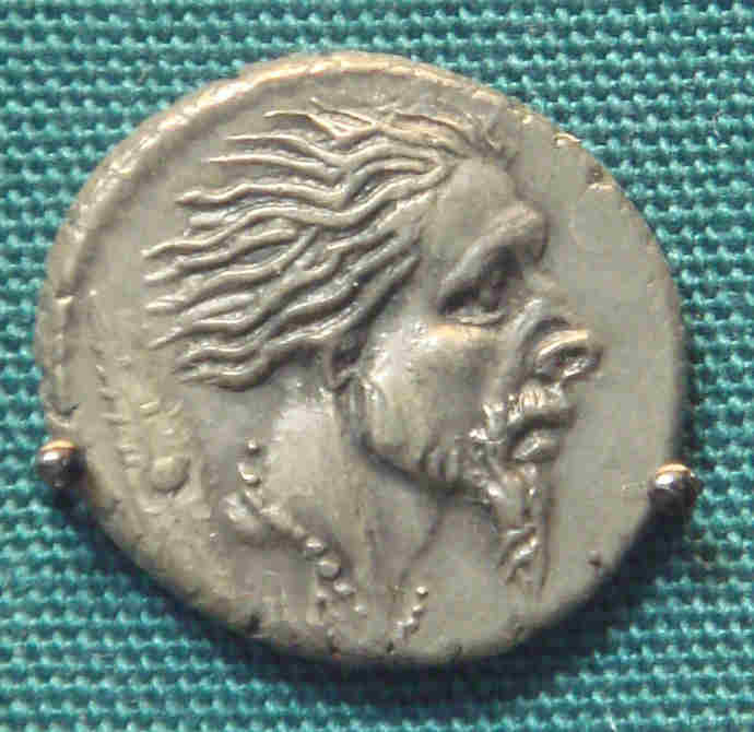 Roman coin showing Gallic warrior