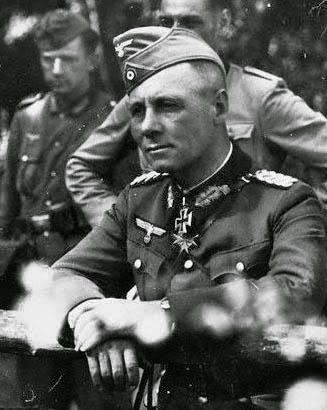 Rommel Wearing his Blue Max & Iron Cross