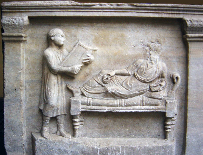 Portrait of a Roman lawyer on a Sarcophagus