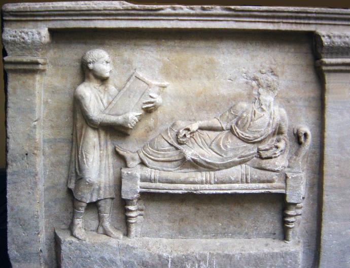 Portrait of a Roman lawyer on a Sarcophagus