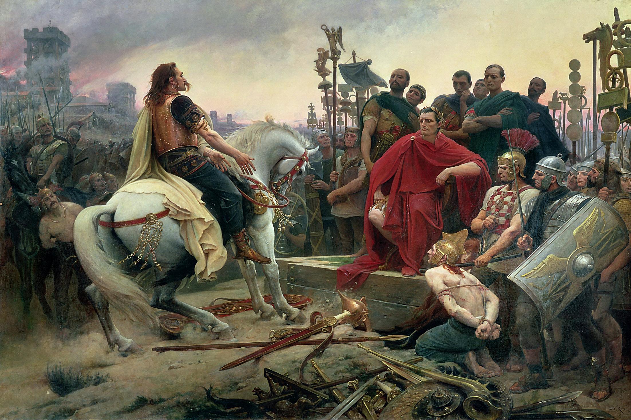 Vercingetorix surrenders at Alesia