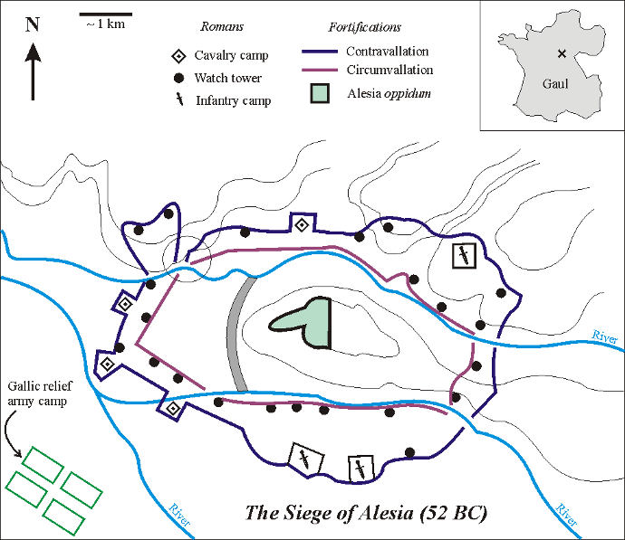 Map of the Siege of Alesia