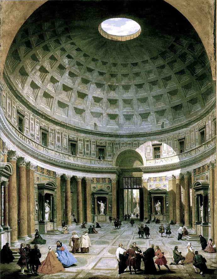 The Interior of the Pantheon by Panini
