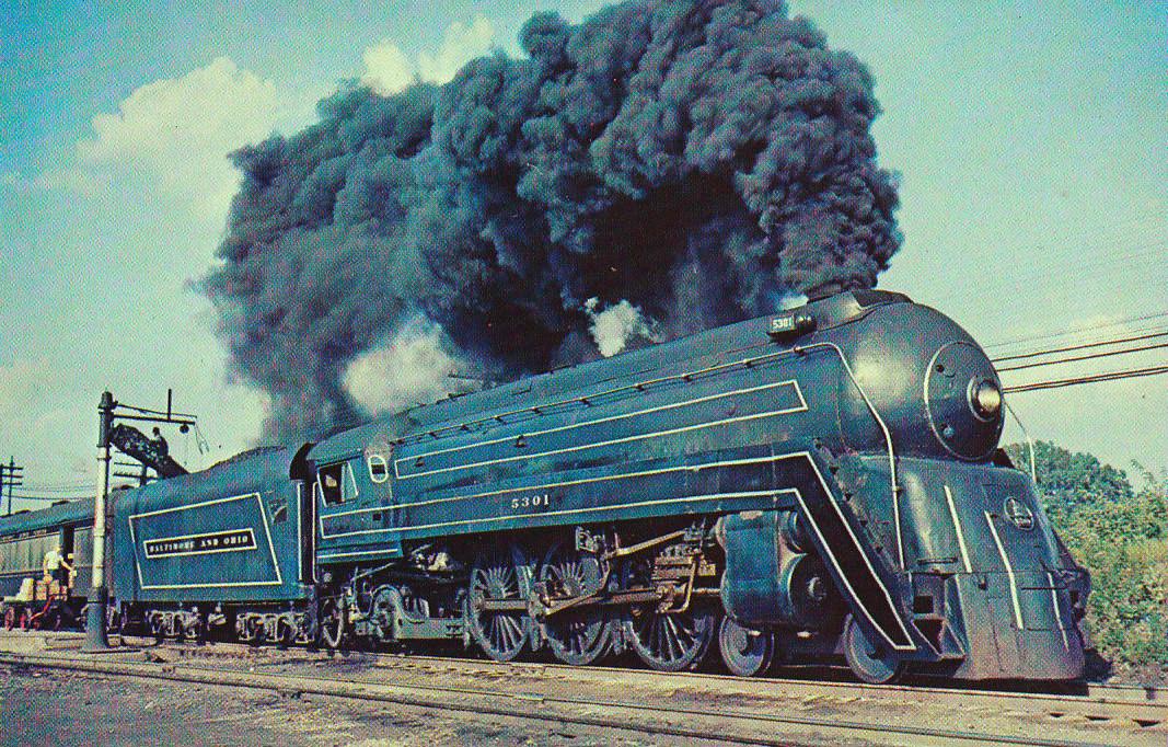The Cincinnatian Baltimore and Ohio steam locomotive