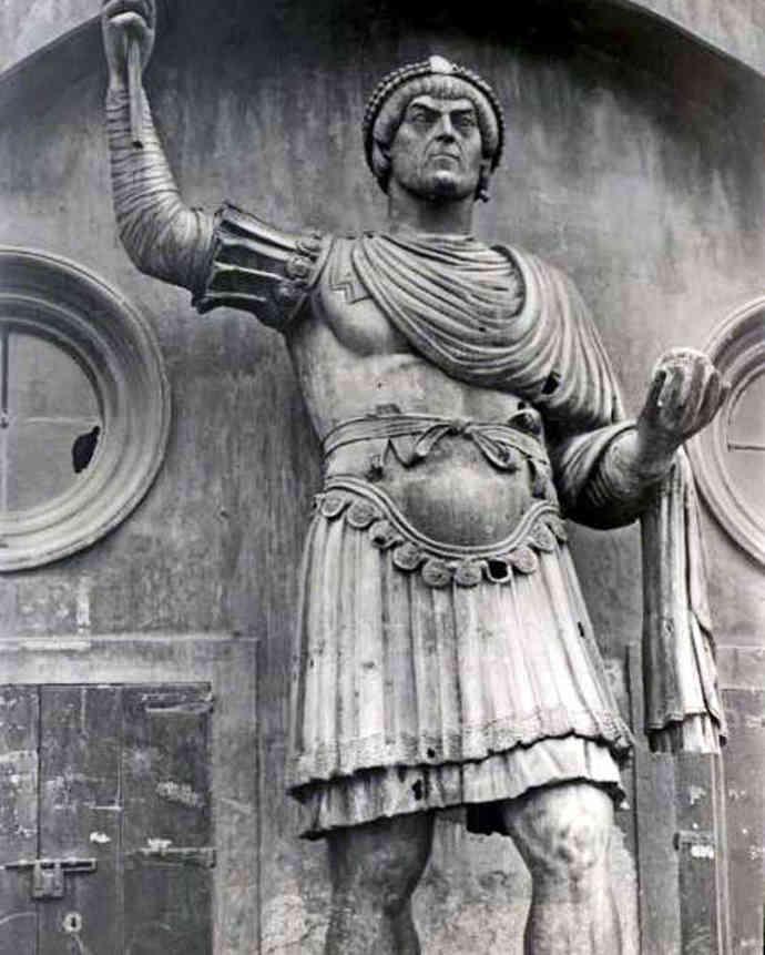 Statue of Roman Emperor Theodosius I