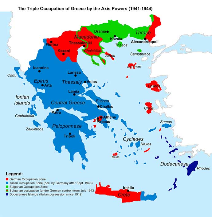 nazi occupation of greece