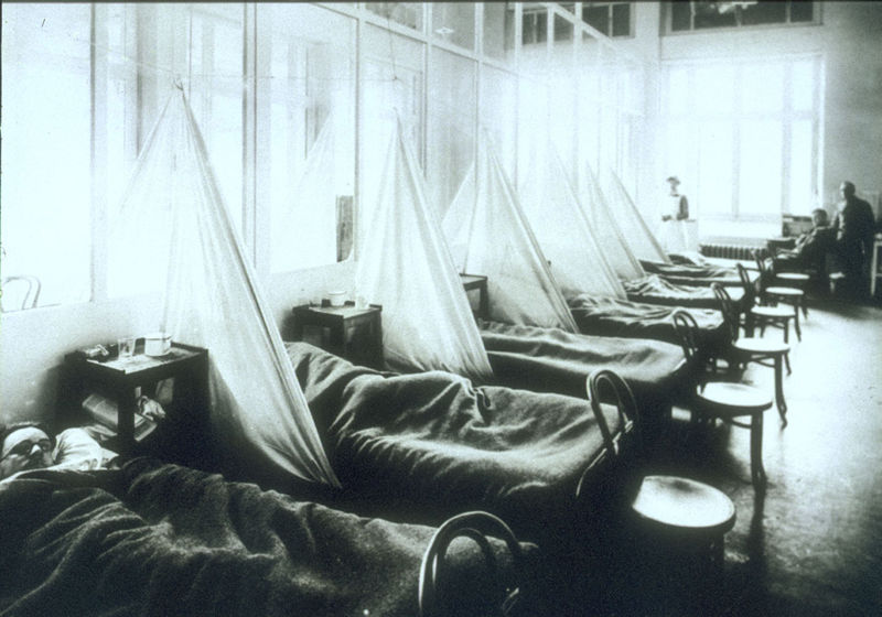 US camp 1918 influenza