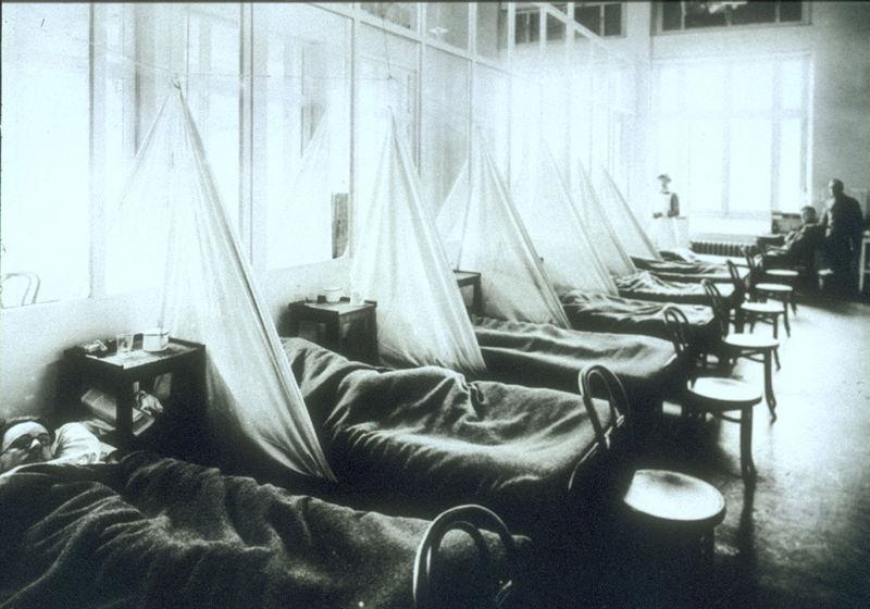 US camp 1918 influenza
