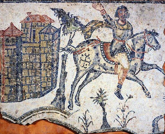 Mosaic of a Vandal Horseman