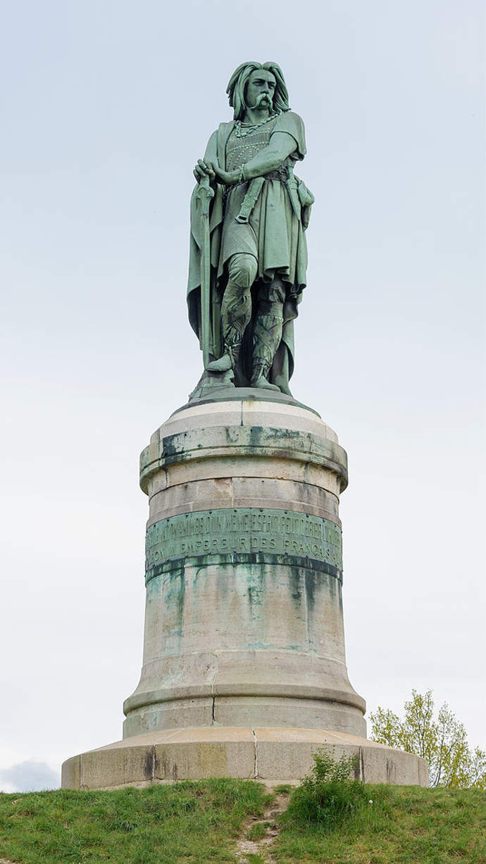 Memorial to Gallic leader Vercingetorix at the supposed site of the Battle of Alesia