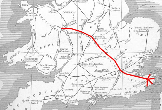 Watling Street route