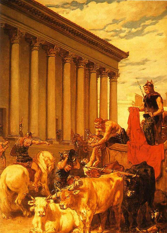 The sack of Rome by Alaric.