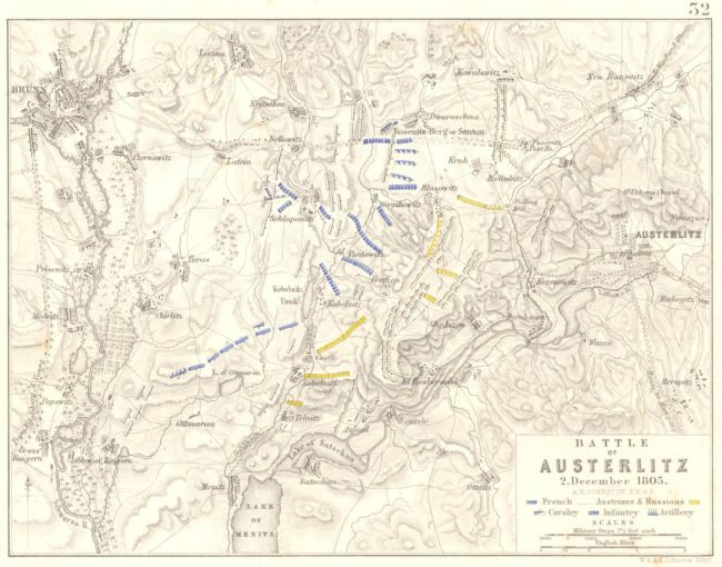 the Battle of Austerlitz map