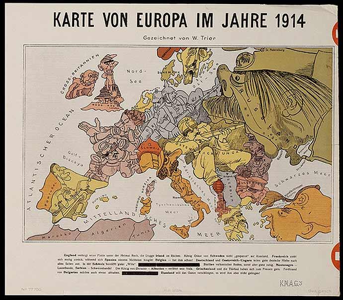 Cartoon europe 1914