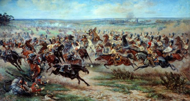 Russian Imperial Guard cavalry against French cuirassiers.