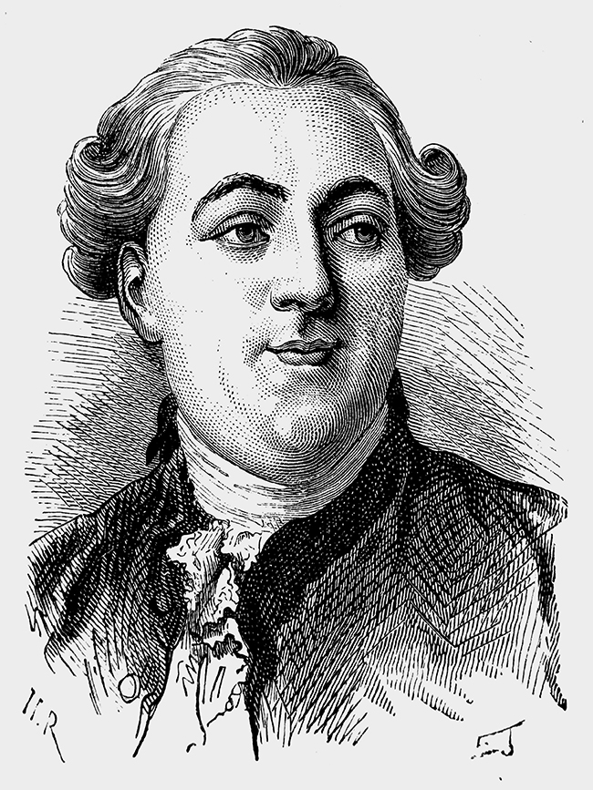 Drawing of Jacques Necker