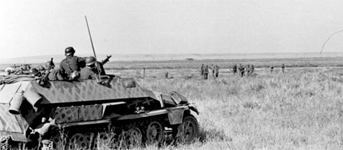 A German half track in the Russian steppe - 1942.