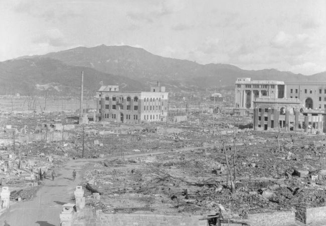 Hiroshima destroyed after the bomb.