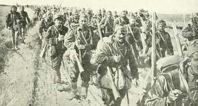 kolubara-serbs-marching