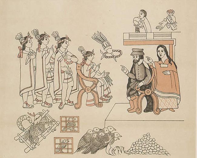 Montezuma meeting the Spanish